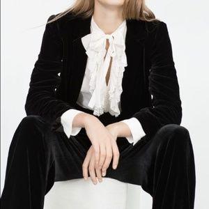 NWT Zara Velvet Trousers